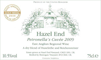 Petronellas Cuvee label